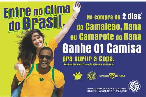 Promoção Camisa Copa - Blocos e camarotes